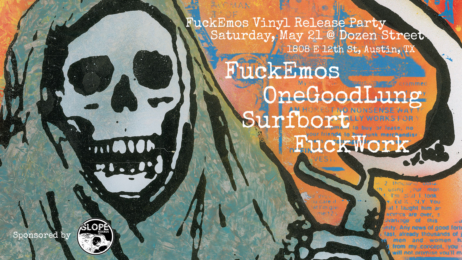 FuckEmos Can Kill You Vinyl Release Party - Slope Records