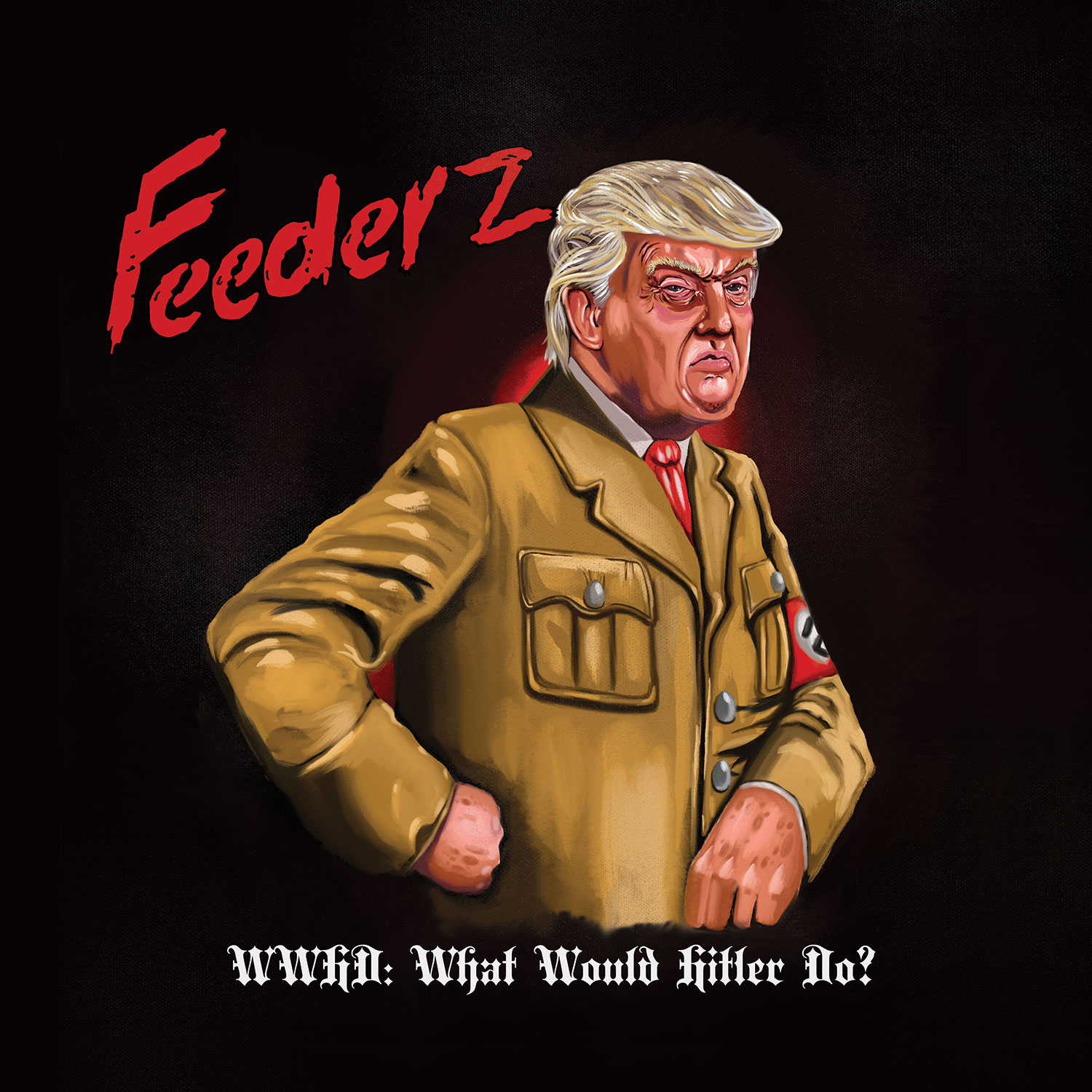 Feederz - WWHD 7in album cover - Slope Records