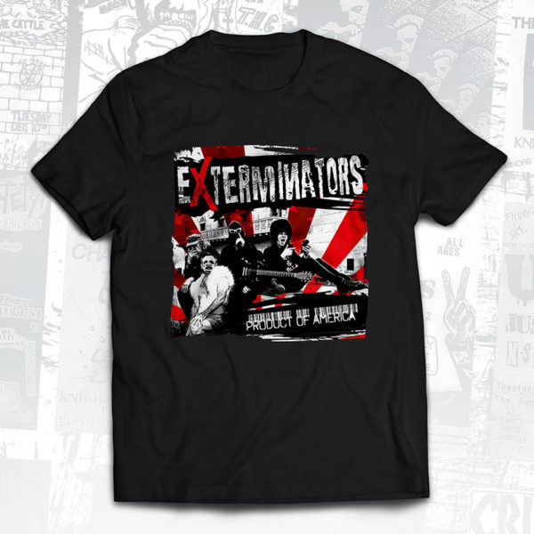 Exterminators Product of America Album Cover T-Shirt - Slope Records